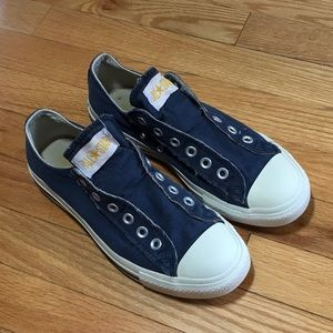 CONVERSE All Star Navy No Lace Slip On Sneaker